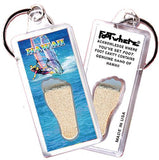 Hawaii FootWhere® Souvenir Keychain. Made in USA - FootWhere® Souvenirs
