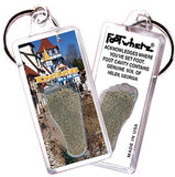 Helen, GA FootWhere® Souvenir Keychain. Made in USA - FootWhere® Souvenirs