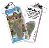 Helen, GA FootWhere® Souvenir Zipper-Pull. Made in USA-FootWhere® Souvenirs