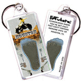 Houston FootWhere® Souvenir Key Chain. Made in USA-FootWhere® Souvenirs