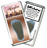 Houston FootWhere® Souvenir Fridge Magnets. 6 Piece Set. Made in USA