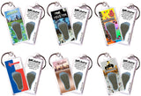 Houston FootWhere® Souvenir Keychains. 6 Piece Set. Made in USA