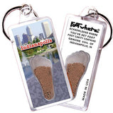 Indianapolis FootWhere® Souvenir Keychain. Made in USA - FootWhere® Souvenirs