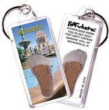 Indianapolis FootWhere® Souvenir Keychain. Made in USA-FootWhere® Souvenirs