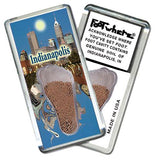 Indianapolis FootWhere® Souvenir Fridge Magnet. Made in USA-FootWhere® Souvenirs