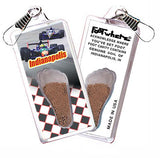 Indianapolis FootWhere® Souvenir Zipper-Pull. Made in USA - FootWhere® Souvenirs