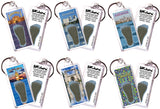 Istanbul FootWhere® Souvenir Keychains. 6 Piece Set. Made in USA
