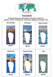 Istanbul FootWhere® Souvenir Magnet. Made in USA-FootWhere® Souvenirs