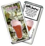 Jackson, MS FootWhere® Souvenir Magnet. Made in USA-FootWhere® Souvenirs