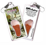 Jackson, MS FootWhere® Souvenir Zipper-Pull. Made in USA - FootWhere® Souvenirs