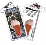 Jackson, MS FootWhere® Souvenir Zipper-Pull. Made in USA-FootWhere® Souvenirs