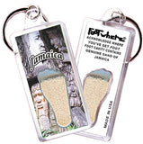 Jamaica FootWhere® Souvenir Keychain. Made in USA-FootWhere® Souvenirs