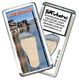Jacksonville FootWhere® Souvenir Fridge Magnet. Made in USA-FootWhere® Souvenirs