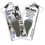 Kansas City FootWhere® Souvenir Zipper-Pull. Made in USA-FootWhere® Souvenirs