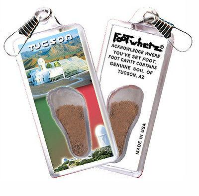 Tucson FootWhere® Souvenir Zipper-Pull. Made in USA - FootWhere® Souvenirs
