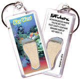 Key West, FL FootWhere® Souvenir Keychain. Made in USA-FootWhere® Souvenirs