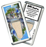 Key West FootWhere® Souvenir Magnet. Made in USA-FootWhere® Souvenirs