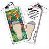Key West, FL FootWhere® Souvenir Zipper-Pull. Made in USA - FootWhere® Souvenirs