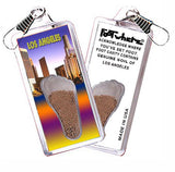 Los Angeles FootWhere® Souvenir Zipper-Pull. Made in USA-FootWhere® Souvenirs