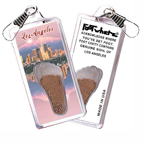 Los Angeles FootWhere® Souvenir Zipper-Pull. Made in USA - FootWhere® Souvenirs