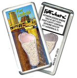 Fort Lauderdale FootWhere® Souvenir Fridge Magnet. Made in USA-FootWhere® Souvenirs