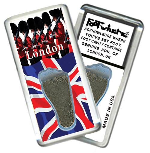 London, U.K. FootWhere® Souvenir Magnet. Made in USA-FootWhere® Souvenirs