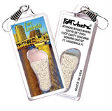 Fort Lauderdale FootWhere® Souvenir Zipper-Pull. Made in USA - FootWhere® Souvenirs