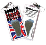 London, UK FootWhere® Souvenir Zipper-Pull. Made in USA-FootWhere® Souvenirs