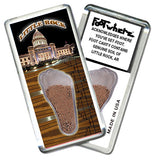 Little Rock FootWhere® Souvenir Fridge Magnets. 6 Piece Set. Made in USA-FootWhere® Souvenirs