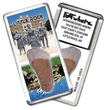 Little Rock FootWhere® Souvenir Magnet. Made in USA-FootWhere® Souvenirs