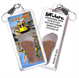 Little Rock FootWhere® Souvenir Zipper-Pull. Made in USA-FootWhere® Souvenirs