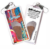 Las Vegas FootWhere® Souvenir Zipper-Pull. Made in USA-FootWhere® Souvenirs