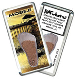 Mobile, AL FootWhere® Souvenir Fridge Magnet. Made in USA-FootWhere® Souvenirs