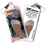 Mobile, AL FootWhere® Souvenir Zipper-Pull. Made in USA-FootWhere® Souvenirs