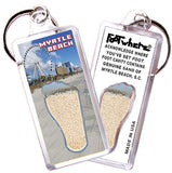 Myrtle Beach FootWhere® Souvenir Key Chain. Made in USA-FootWhere® Souvenirs