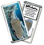 Malibu FootWhere® Souvenir Fridge Magnet. Made in USA-FootWhere® Souvenirs