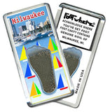 Milwaukee FootWhere® Souvenir Fridge Magnet. Made in USA-FootWhere® Souvenirs