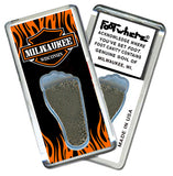 Milwaukee FootWhere® Souvenir Fridge Magnets. 6 Piece Set. Made in USA