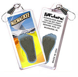 Milwaukee FootWhere® Souvenir Zipper-Pulls. 6 Piece Set. Made in USA