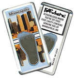 Minneapolis FootWhere® Souvenir Fridge Magnets. 6 Piece Set. Made in USA - FootWhere® Souvenirs