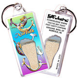Norfolk FootWhere® Souvenir Keychains. 6 Piece Set. Made in USA
