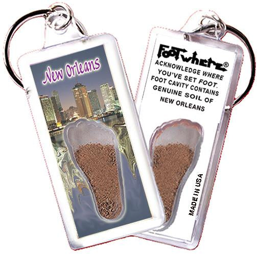 New Orleans FootWhere® Souvenir Keychain. Made in USA - FootWhere® Souvenirs