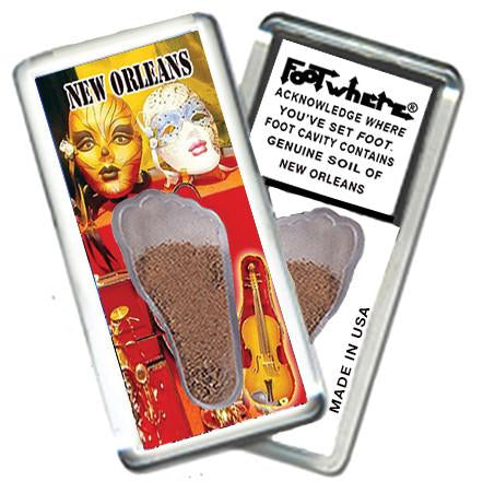 New Orleans FootWhere® Souvenir Magnet. Made in USA-FootWhere® Souvenirs
