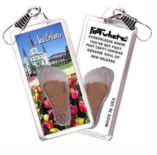 New Orleans FootWhere® Souvenir Zipper-Pull. Made in USA - FootWhere® Souvenirs