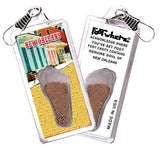 New Orleans FootWhere® Souvenir Zipper-Pull. Made in USA-FootWhere® Souvenirs