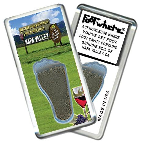 Napa Valley FootWhere® Souvenir Fridge Magnet. Made in USA - FootWhere® Souvenirs