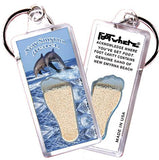 New Smyrna Beach FootWhere® Key Chain. Made in USA-FootWhere® Souvenirs