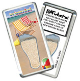 New Smyrna Beach FootWhere® Souvenir Fridge Magnet. Made in USA-FootWhere® Souvenirs