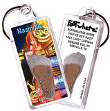 Nashville FootWhere® Souvenir Keychain. Made in USA-FootWhere® Souvenirs