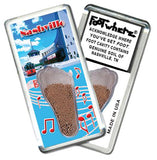 Nashville FootWhere® Souvenir Magnet. Made in USA - FootWhere® Souvenirs